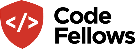 logo for Code Fellows, a coding bootcamp